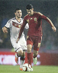 Spain's Alvaro Morata (r) and Germany's Volland during international friendly match.November 18,2014. (ALTERPHOTOS/Acero)