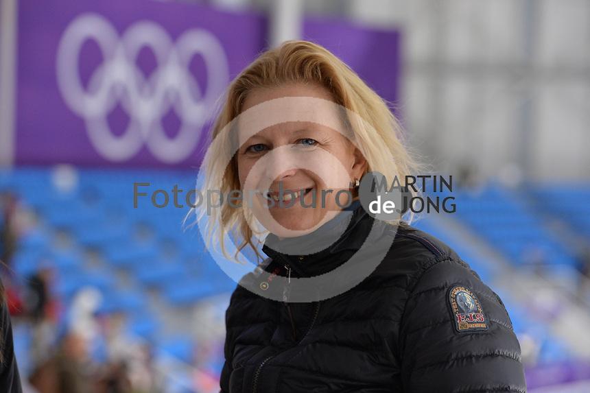 OLYMPIC GAMES: PYEONGCHANG: 19-02-2018, Gangneung Oval, Long Track, Jildou Gemser (Member ISU Development Commission) ©photo Martin de Jong