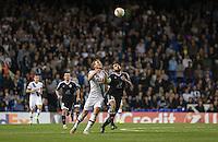 Harry Kane of Tottenham Hotspur & Rashad Sadygov of Qarabag FK battle for the ball during the UEFA Europa League match between Tottenham Hotspur and Qarabag FK at White Hart Lane, London, England on 17 September 2015. Photo by Andy Rowland.