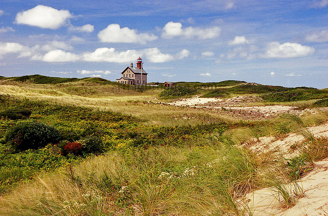 A view of North Lighthouse in Block Island.