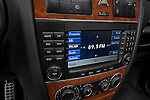 Stereo audio system close up detail view of a 2008 Mercedes Benz G55 AMG
