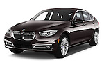 2016 BMW 5 Series 535i Gran Turismo Luxury Line 5 Door Hatchback Angular Front stock photos of front three quarter view