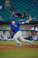Oklahoma City Dodgers Will Smith (10) at bat during a Pacific Coast League game against the New Orleans Baby Cakes on May 6, 2019 at Shrine on Airline in New Orleans, Louisiana.  New Orleans defeated Oklahoma City 4-0.  (Mike Janes/Four Seam Images)