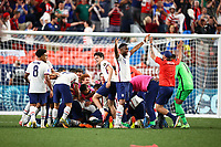 DENVER, CO - JUNE 6: Christian Pulisic #10 of the United States scores a PK goal and celebrates during a game between Mexico and USMNT at Empower Field at Mile High on June 6, 2021 in Denver, Colorado.