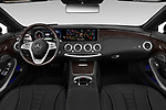 Stock photo of straight dashboard view of 2019 Mercedes Benz S-Class S-560 2 Door Convertible Dashboard