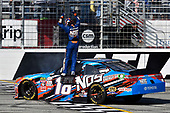 2017 NASCAR XFINITY Series - Rinnai 250<br /> Atlanta Motor Speedway, Hampton, GA USA<br /> Saturday 4 March 2017<br /> Kyle Busch, NOS Energy Drink Toyota Camry celebrates his win with a burnout<br /> World Copyright: Nigel Kinrade/LAT Images<br /> ref: Digital Image 17ATL1nk05623