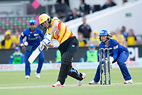Natalie Sciver, Trent Rockets drives over the top to long on for four during London Spirit Women vs Trent Rockets Women, The Hundred Cricket at Lord's Cricket Ground on 29th July 2021