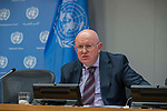 Press Briefing by Ambassador Vassily Nebenzia, Permanent Representative of the Russian Federation to the United Nations, who will brief reporters on Syria