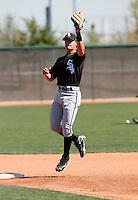 Gordon Beckham  -  Chicago White Sox - 2009 spring training.Photo by:  Bill Mitchell/Four Seam Images