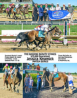 Jessica Krupnick winning The Dashing Beauty Stakes at Delaware Park on 7/7/18