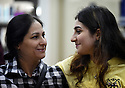 TRAUMA HEALING CASE STUDIES. NIHAL AZIZ, 38, WITH HER DAUGHTER MINA RAMEZ, 18, FROM BAGHDAD, IN JORDAN. 20/4/16. PHOTO BY CLARE KENDALL.