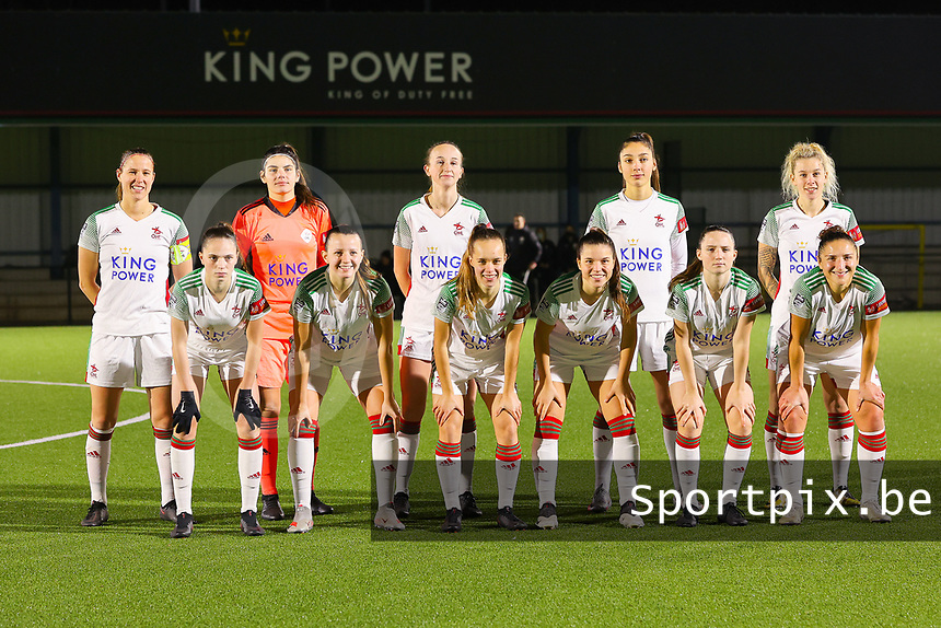 Team photo of OHL taken before a female soccer game between Oud Heverlee Leuven and Standard Femina De Liege on the 10th matchday of the 2020 - 2021 season of Belgian Womens Super League , sunday 20 th of December 2020  in Heverlee , Belgium . PHOTO SPORTPIX.BE | SPP | SEVIL OKTEM
