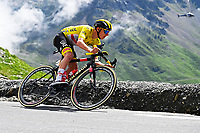 15th July 2021; Luz Ardiden, Hautes-Pyrénées department, France;  POGACAR Tadej (SLO) of UAE TEAM EMIRATES during stage 18 of the 108th edition of the 2021 Tour de France cycling race, a stage of 129,7 kms between Pau and Luz Ardiden.