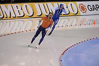 SPEEDSKATING: SALT LAKE CITY: Utah Olympic Oval, 09-03-2019, ISU World Cup Finals, 1000m Men, Kjeld Nuis (NED), Håvard Holmefjord Lorentzen (NOR), ©Martin de Jong