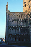 Ely: Ely Cathedral--Galilee Porch, South Elevation. Photo '90.