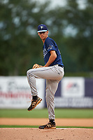 Pitcher Austin Bergner (22) of Windermere Preparatory School in Windermere, Florida playing for the Tampa Bay Rays scout team during the East Coast Pro Showcase on July 28, 2015 at George M. Steinbrenner Field in Tampa, Florida.  (Mike Janes/Four Seam Images)
