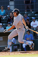 Eric Hosmer #30 of the Wilmington Blue Rocks hitting against the Myrtle Beach Pelicans on April 11, 2010  in Myrtle Beach, SC.