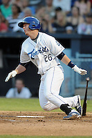 Asheville Tourists right fielder Jared Simon #26 swings at a pitch during game two of the South Atlantic League, Southern Division playoffs against the Rome Braves at McCormick Field on September 7, 2012 in Asheville, North Carolina . The Tourists defeated the Braves 6-2. (Tony Farlow/Four Seam Images).