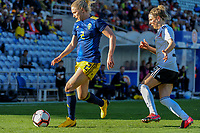 20200304 Faro , Portugal : Swedish Jonna Andersson (2) and German midfielder Svenja Huth (9) pictured during the female football game between the national teams of Germany and Sweden on the first matchday of the Algarve Cup 2020 , a prestigious friendly womensoccer tournament in Portugal , on wednesday 4 th March 2020 in Faro , Portugal . PHOTO SPORTPIX.BE | STIJN AUDOOREN