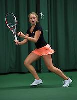 Rotterdam, The Netherlands, 07.03.2014. NOJK ,National Indoor Juniors Championships of 2014, Lexie Stevens (NED)<br /> Photo:Tennisimages/Henk Koster