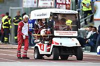 Accident of Amadou Diawara of Roma<br /> Roma 06-10-2019 Stadio Olimpico <br /> Football Serie A 2019/2020 <br /> AS Roma - Cagliari <br /> Foto Antonietta Baldassarre / Insidefoto