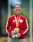 Karen Van Nest, Toronto 2015 - Para Archery // Paratir a l'arc.<br /> Karen Van Nest wins silver in Para Archery // Karen Van Nest remporte la médaille d'argent en para tir à l'arc. 10/08/2015.Photo: Dan Galbraith/Canadian Paralympic Committee