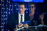 © Joel Goodman - 07973 332324 . 05/03/2015 .  Midland Hotel , Manchester , UK . Sponsor from Interlink Recruitment announcing Associate of the Year . The Manchester Legal Awards 2015 . Photo credit : Joel Goodman