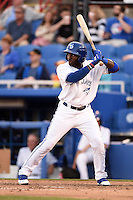 Dunedin Blue Jays outfielder Dwight Smith Jr. (25) during a game against the Daytona Cubs on April 16, 2014 at Florida Auto Exchange Stadium in Dunedin, Florida.  Dunedin defeated Daytona 5-1.  (Mike Janes/Four Seam Images)