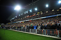 Fans sing the national anthem during the Steinlager Series international rugby test match between All Blacks and Ireland at Waikato Stadium, Hamilton, New Zealand on Saturday, 23 June 2012. Photo: Dave Lintott / lintottphoto.co.nz