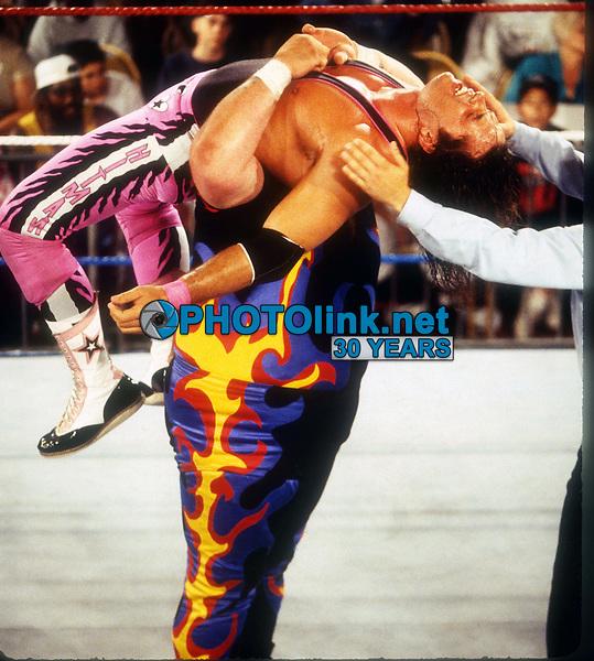 Bret Hart The Hitman vs. Bam Bam Bigelow 1993<br /> Photo By John Barrett/PHOTOlink.net
