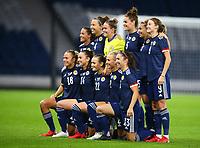 21st September 2021; Hampden Park, Glasgow, Scotland: FIFA Womens World Cup qualifying, Scotland versus Faroe Islands; Scotland team lineup before the match