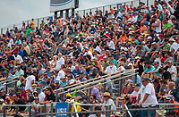 Sep 27, 2020; Gainesville, Florida, USA; NHRA fans in the grandstands during the Gatornationals at Gainesville Raceway. Mandatory Credit: Mark J. Rebilas-USA TODAY Sports