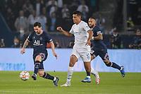 28th September 2021, Parc des Princes, Paris, France: Champions league football, Paris-Saint-Germain versus Manchester City:  Lionel Messi ( 30 - PSG ) supported by Neymar Jr ( 10 - PSG ) goes past Rodri ( 16 - Manchester City ) -