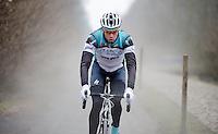 Paris-Roubaix 2013 RECON..Stijn Vandenbergh (BEL) Trouée d'Arenberg reconnaissance.