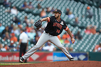 Sam Houston State Bearkats relief pitcher Dominic Robinson (30) in action against the Kentucky Wildcats during game four of the 2018 Shriners Hospitals for Children College Classic at Minute Maid Park on March 3, 2018 in Houston, Texas. The Wildcats defeated the Bearkats 7-2.  (Brian Westerholt/Four Seam Images)