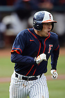 February 21 2010: Zach Tanida of Cal. St. Fullerton during game against Cal. St. Long Beach at Goodwin Field in Fullerton,CA.  Photo by Larry Goren/Four Seam Images