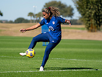 ORLANDO, FL - JANUARY 20: Catarina Macario #29 of the USWNT controls the ball during a training session at the practice fields on January 20, 2021 in Orlando, Florida.