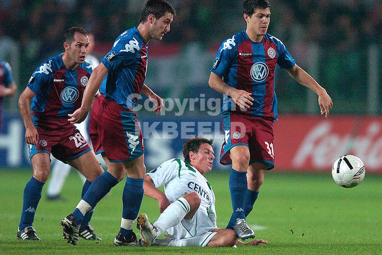 groningen - partizan belgrado eerste ronde uefa cup 28-09-2006 seizoen 2006-2007 fledderus verlies duel van drie partizanen
