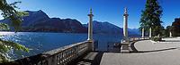 Europe/Italie/Lac de Come/Lombardie/Bellagio : Villa Melzi - Les jardins et le lac