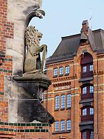 in der  Speicherstadt, Hamburg, Deutschland, Europa, UNESCO-Weltkulturerbe<br /> Speicherstadt, Hamburg, Germany, Europe, UNESCO world heritage