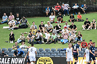 3rd January 2021; Campbelltown Stadium, Leumeah, New South Wales, Australia; A League Football, Macarthur FC versus Central Coast Mariners; fans enjoying watching the game from the hill behind the goal