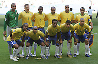 Brazil Starting XI. Brazil defeated Australia 2-0 in their FIFA World Cup Group F match at the FIFA World Cup Stadium, Munich, Germany, June 18, 2006.