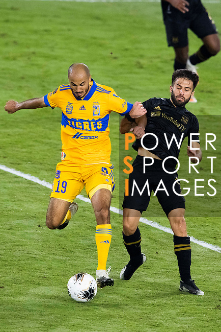 Guido Pizarro of Tigres UANL (MEX) and Diego Rossi of Los Angeles FC (USA) during their CONCACAF Champions League Final match at the Orlando's Exploria Stadium on 22 December 2020, in Florida, USA. Photo by Victor Fraile / Power Sport Images
