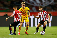17th April 2021; Olmpico de La Cartuja stadium, Seville, Spain; Copa del Rey Football final, Athletic Bilbao versus FC Barcelona;  Frenkie de Jong of FC Barcelona, Alejandro Berenguer and Yeray lvarez of Athletic Club