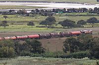 2020 08 27 Diesel Train derailed at Llangennech, near Llanelli, Wales, UK.