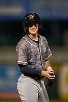 Quad Cities River Bandits second baseman Nick Loftin (2) during a game against the South Bend Cubs on August 20, 2021 at Four Winds Field in South Bend, Indiana.  (Mike Janes/Four Seam Images)