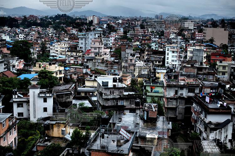 A view across Kathmandu.