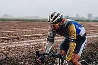3rd October 2021, Paris–Roubaix Mens Cycling tour;  Clement Carisey during the Paris–Roubaix which is famous for its uneven cobblestone course.
