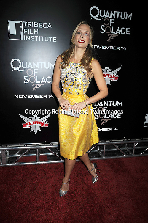 """Molly Sims in Bill Blass..at The Tribeca Film Institute Benefit Screening of """"Quantum of Solace"""" movie screening on November 11, 2008 at AMC Lincoln Square Theatre. The movie stars DAniel Craig and Jeffrey Wright. ....Robin Platzer/Twin Images"""