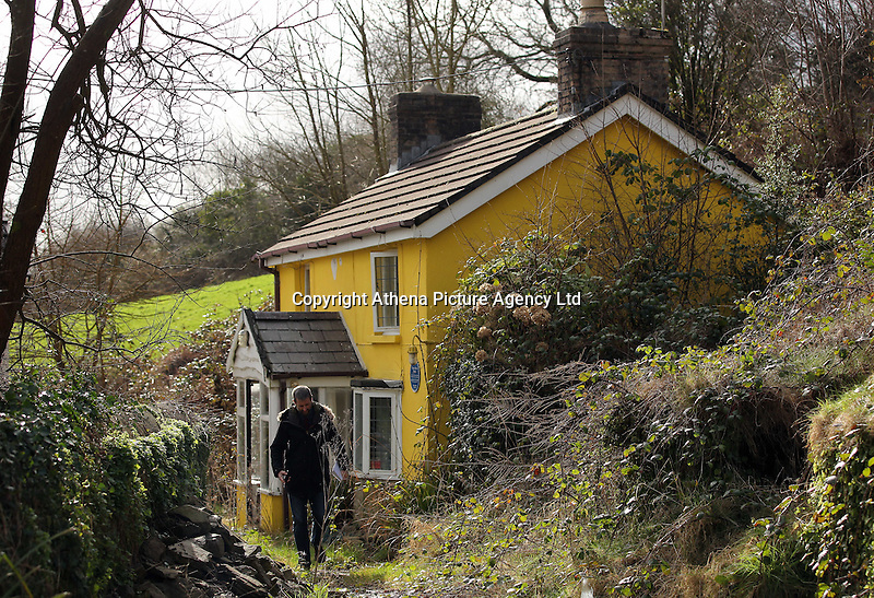 Pictured: The cottage where welsh language campaigner Eileen a Trefor Beasley was living between 1952 and 1964 whose fight gave birth to the Wales Language Society (Cymdeithas Yr Iaith Gymraeg) at Yr Allt near Llangennech, west Wales. Thursday 24 February 2017<br />Re: Plans to convert Llangennech Junior School, a bilingual school to one teaching only welsh, has caused a bitter row between campaigners and politicians in Carmarthenshire, Wales, UK.